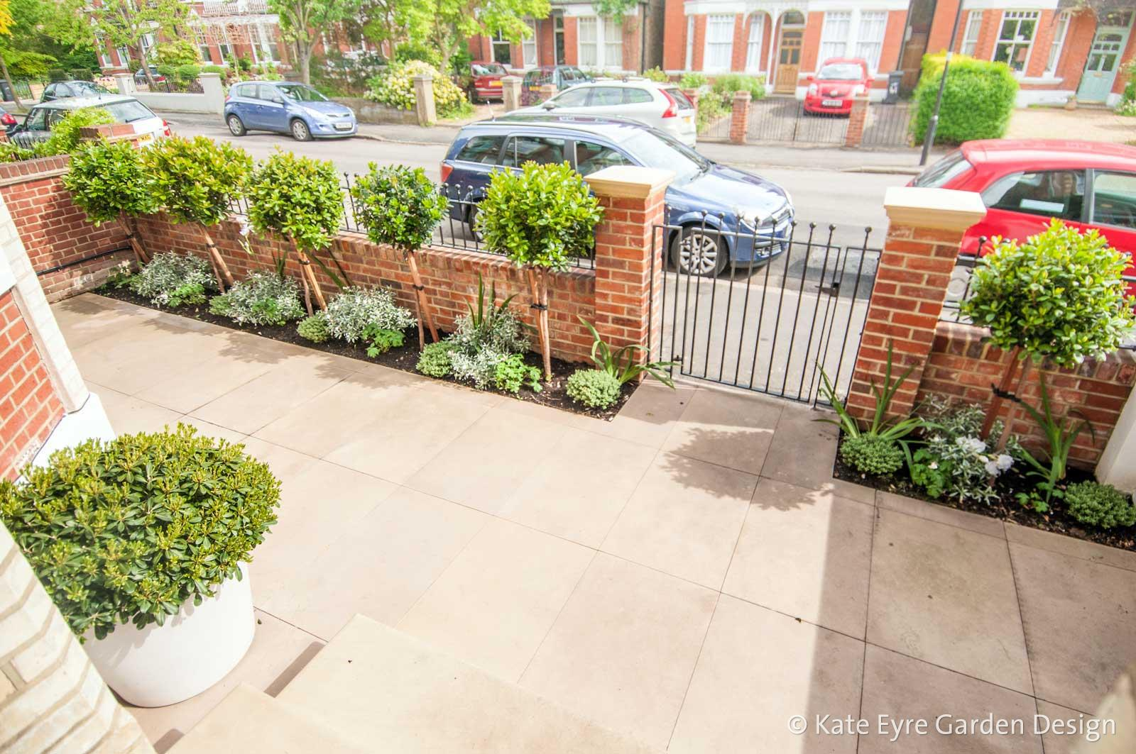 front garden design in idmiston road london 2