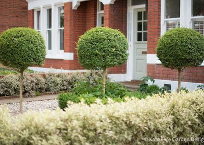 Front garden design, Woodwarde Road, London, 2