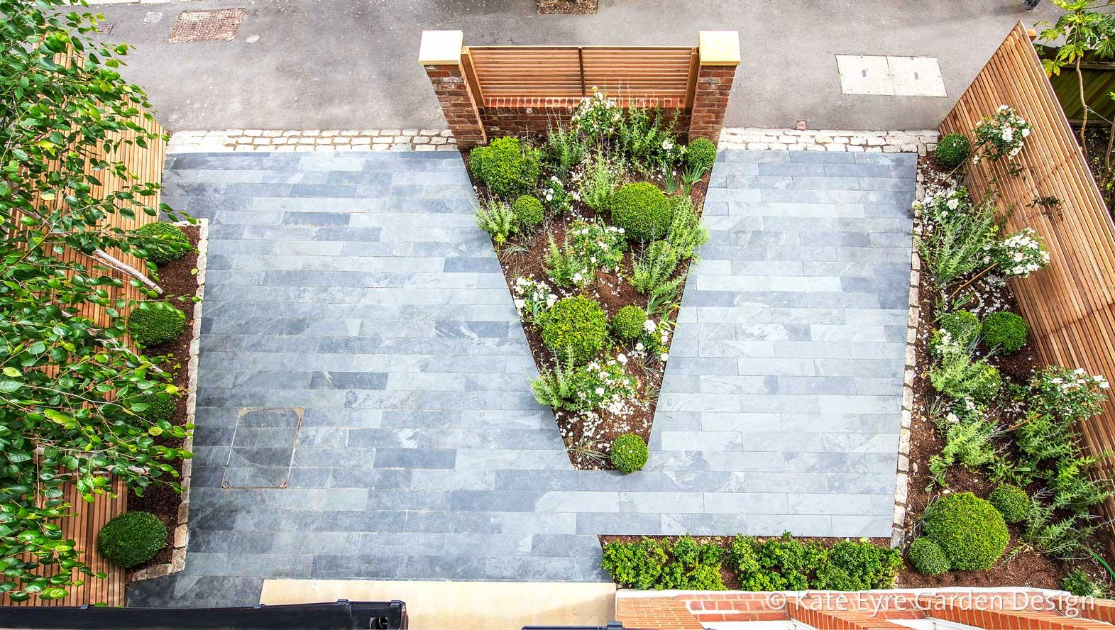 Front garden design in Calton Avenue, London, 2