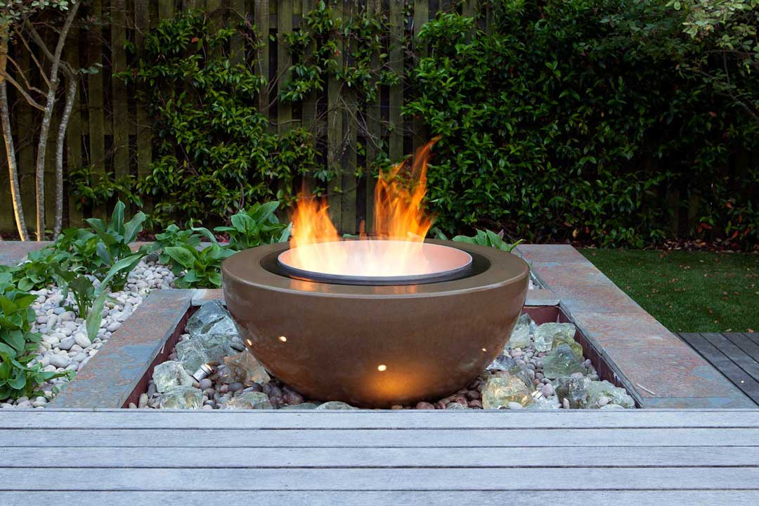Bespoke garden fire feature, London, 1