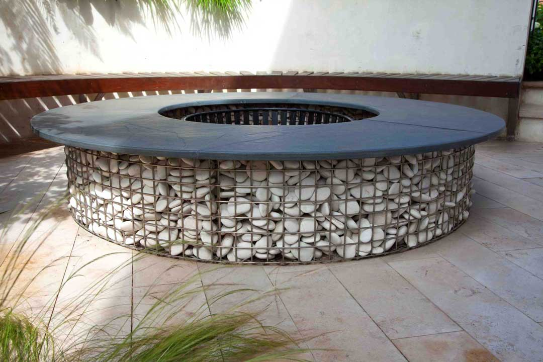Bespoke garden fire feature, London, 2