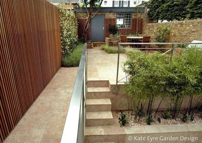 Small back garden design in Chelsea, 1