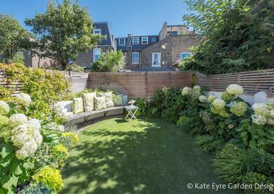 Small Back Garden Design in Clapham, 1
