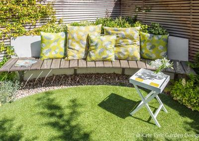 Small Back Garden Design in Clapham, 2