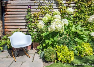 Small Back Garden Design in Clapham, 6