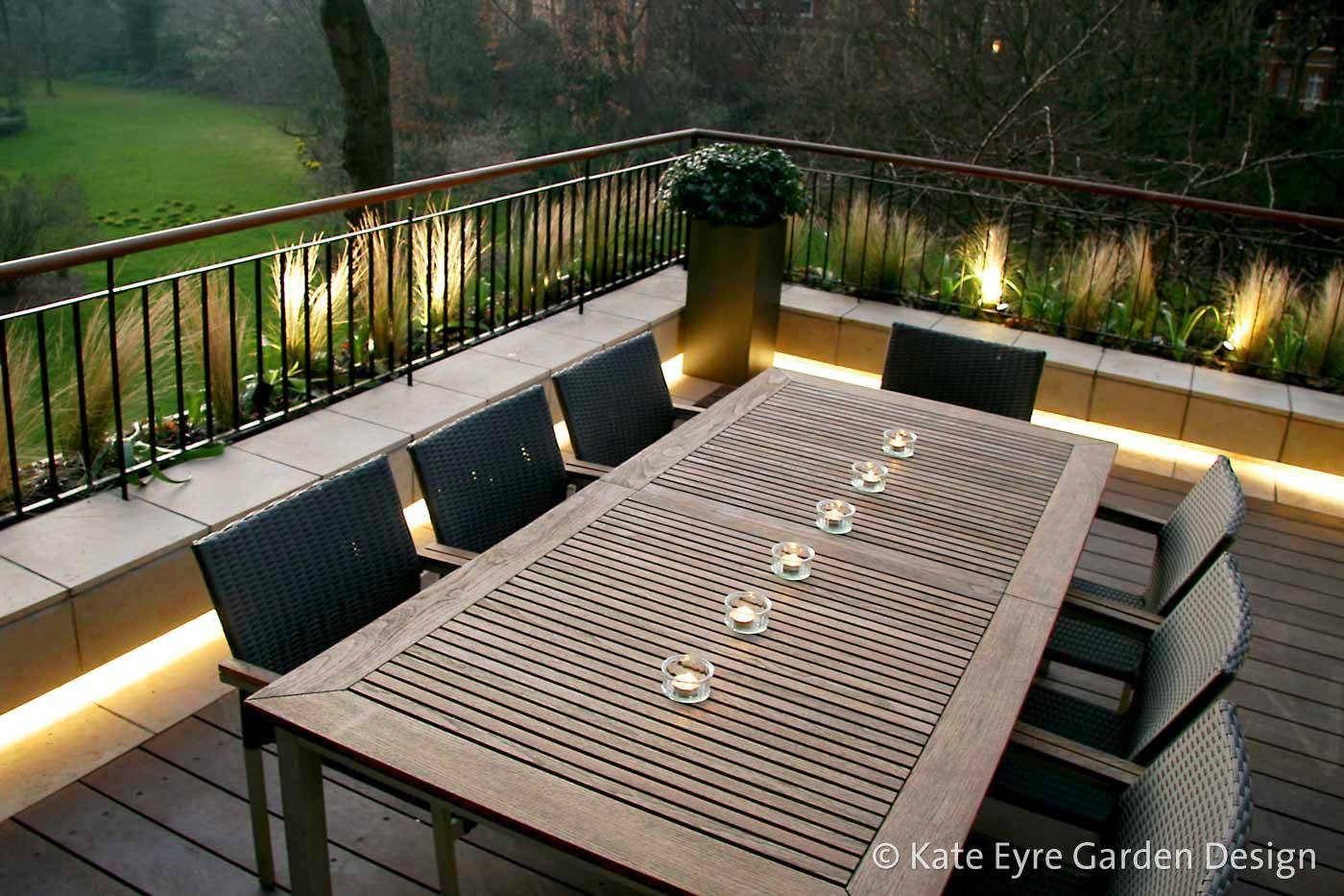 A roof garden design in Notting Hill, West London, 1