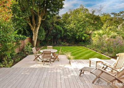 Medium back garden design in Wimbledon, 2