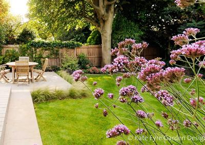 Medium back garden design in Wimbledon, 5