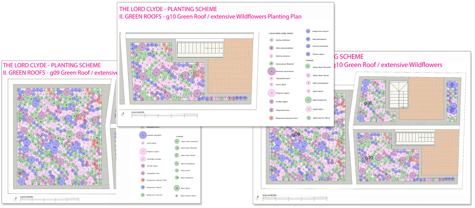 The Lord Clyde planting schemes