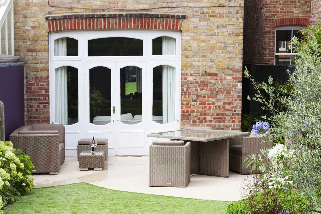Natural stone patio, London, 2