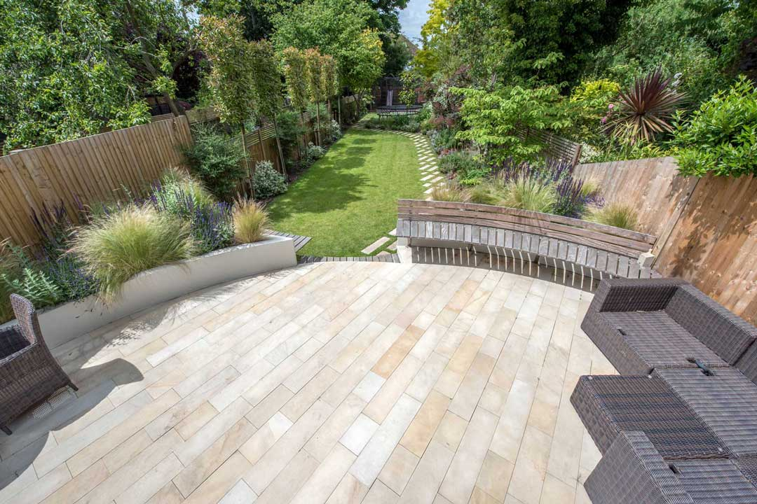 Natural stone patio, London, 3