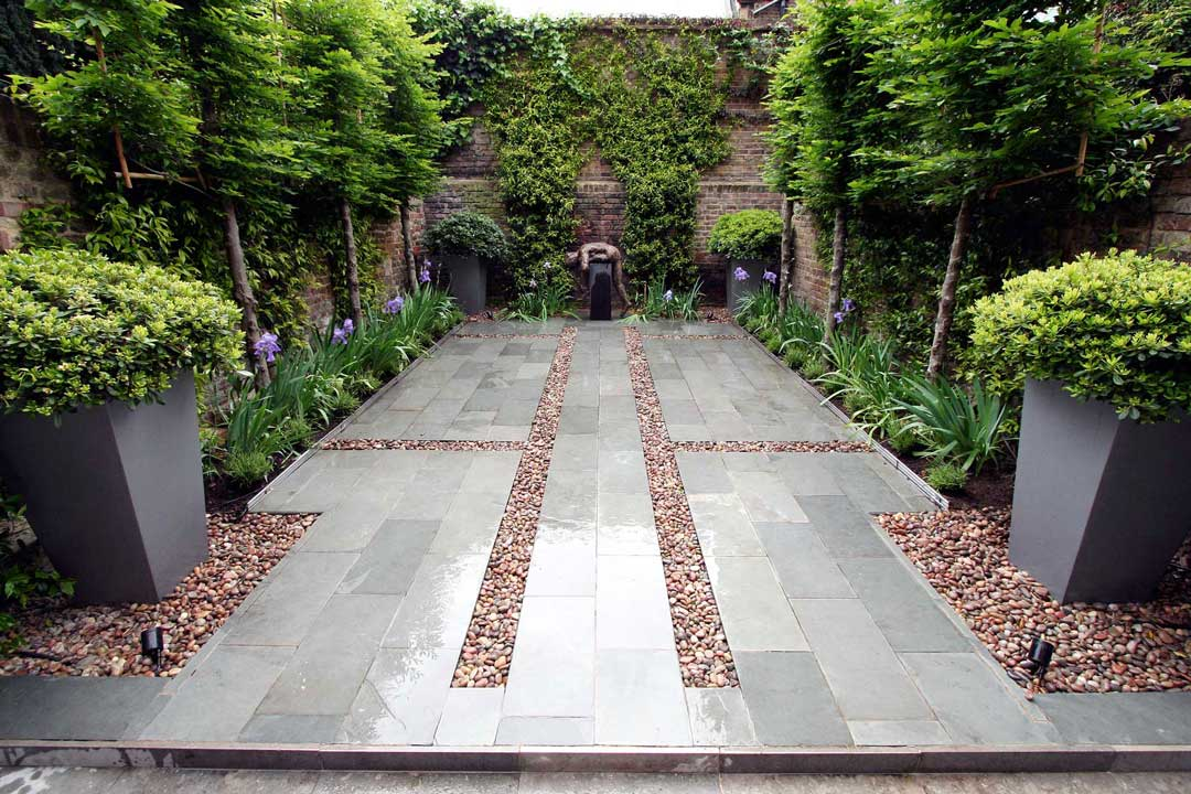 Slate patio, London, 2