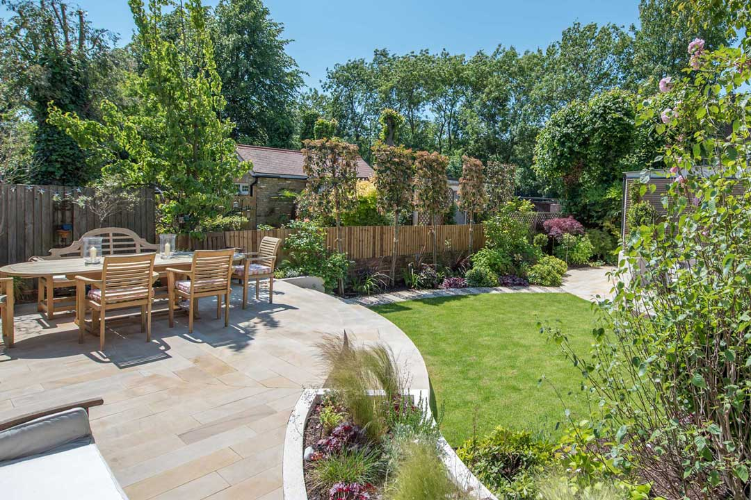 Natural stone patio, London, 5