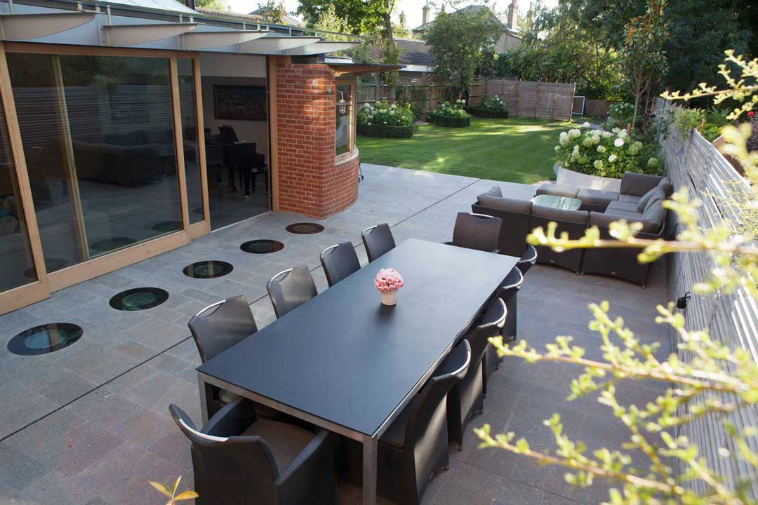 Natural stone patio, London, 6
