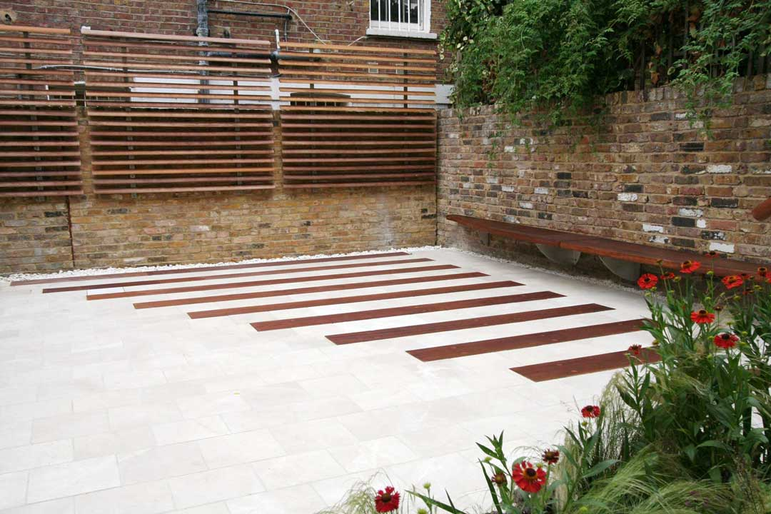 Limestone patio, London